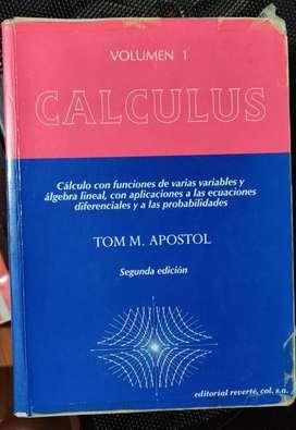 Calculo de Apostol Vol1- 2da Edición