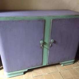 Rebajado Aparador vajillero mueble bajo de guardado estilo boho a