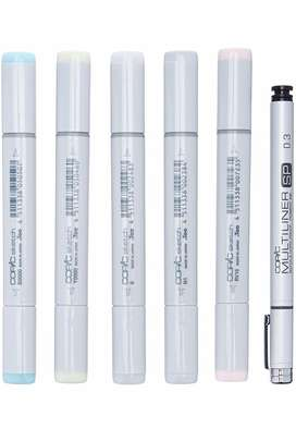 Copic markers set x6