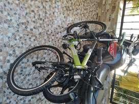 Vendo bicicletas rin 26 color verde en buen estado