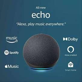 Alexa Echo (Grande) Amazon 4a Generacion - Sonido Premium - Dolby - Parlante inteligente