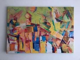 Cuadro abstracto grande