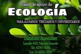 Clases de apoyo de Ecología en Monte Grande