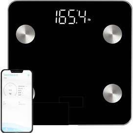 Báscula electrónica inteligente Bluetooth para medir peso, grasa, músculos, huesos y agua en el cuerpo
