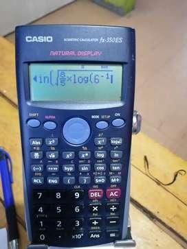 Calculadora Casio FX 350 fs científica quebrados notación real