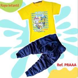 Jogger y Camiseta Para Niños Diseños Paw Patrol, Sonic Amon Us