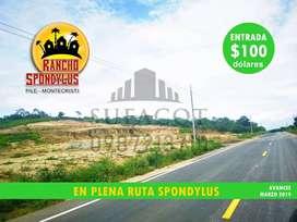 Proyecto Campestre Rancho Spondylus, Terrenos para Tu Casa de Campo, Credito Directo-100 Usd de Entrada, Sur de Manta S1