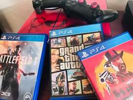 Play Station4 500gb/ 2 Controles/3Juegos