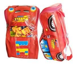 Bloque carro didactico juguete 100 piezas