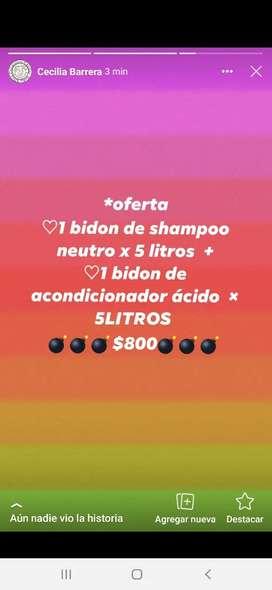 Oferta!!! Shampoo y acondicionador