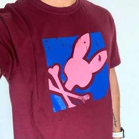 Camiseta psycho bunny algodon