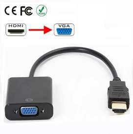 Cable Convertidor Adaptador Hdmi A Vga Con Audio Integrado
