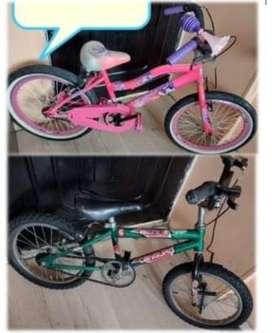 Bicicleta niña y niño