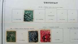Sellos postales de Uruguay 1877 – 1900