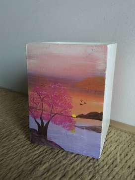 Portalapiz pintura paisaje
