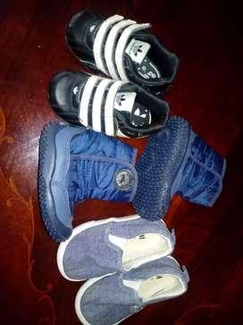 Lote calzado zapatillas de bebe adidas hym atomik