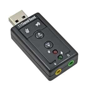Tarjeta De Sonido 7.1 Usb Audio 3d Externo Adaptador Usb A 25 SOLES