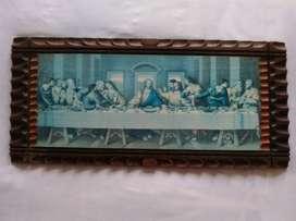 Promoción se vende cuadro ultima cena de Da Vinci en madera tallada de 57x 26cm