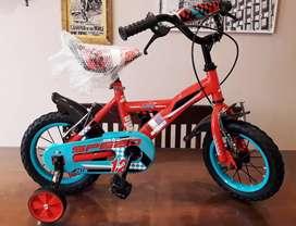 Bicicleta bmx rod 12 con rueditas estabilizadora !! Nuevas!!!