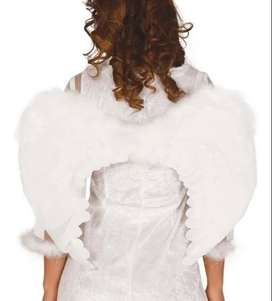 Alas Negras  o Blancas Plumas Disfraz Niño Ángel 60x45cm