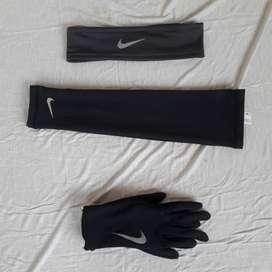 Guantes, Balaca, y mangas deportivos marca Nike talla S