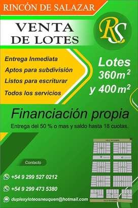 Vendo lotes en zona ex peaje Neuquén Centenario
