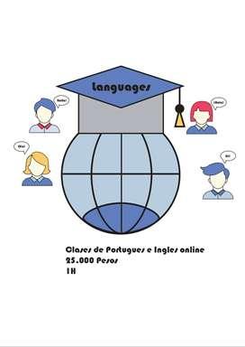 Clases de Portugues e Ingles online