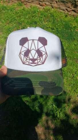 Gorra para niño de panda nueva