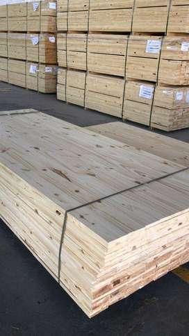 Tableros de pino paraná con NUDOS + 3m x 1,2m x 18mm