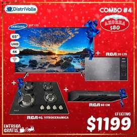 "SMART TV SAMSUNG 65"" -ENCIMERA RCA -CAMPANA-MICROONDAS RCA  Combo Navideño #4"