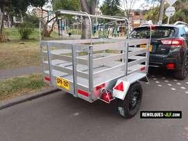 Remolques o Tráiler, 750 kg,carroceria en aluminio, con tiro de arrastre, carpa, sistema eléctrico, Fabrica de todo tipo