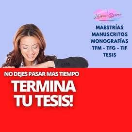 Tu ayuda sobre Tesis Asesoría Master Tesis Redactamos Correccion Metodologia de investigación Elaboracion Argentina