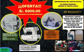 OFERTA ÚNICA SET DE MAQUINAS INDUSTRIALES (TU PROPIO NEGOCIO DESDE CASA!) PRECIO MUY NEGOCIABLE
