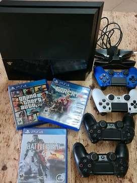 Playstation 4 500 Gb + 4 Joystick + 6 Juegos + Cargador Dual