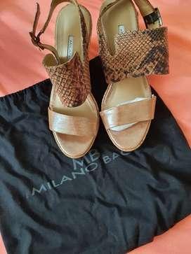 Sandalias cuña Milano  Bags talla 8