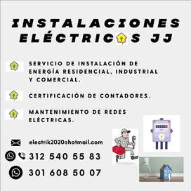 Instalaciones eléctricas J.J, servicio de instalación eléctrica Residencial, Comercial e Industrial; Certificaciones..