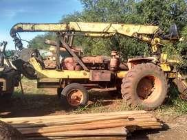 Cargadora forestal sobre tractor r 60