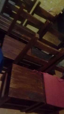 6 sillas pino brasil