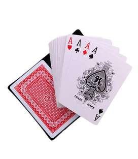 Baraja Naipes Juego Cartas Plástico Poker Tradicional Juego De Mesa Familiar