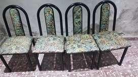 4 sillas de caño muy buen estado