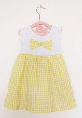 Vestido amarillo bebé niña Clovers - Talla 2