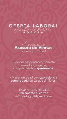 ASESORA DE VENTAS PRESENCIAL