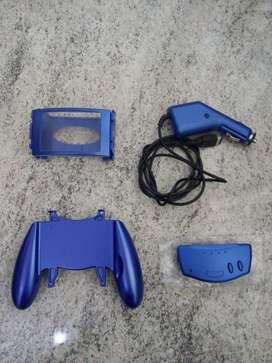 Nintendo Advance SP accesorios lupa, cargador de auto, adaptador estilo joystick, radio y adaptador auriculares