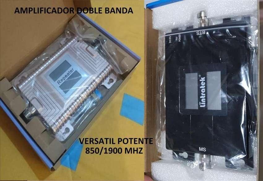 Amplificador Doble banda 850 1900 mhz potente señal celular rural 70