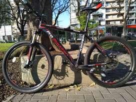 Bicicleta MTB Rodado 26 Pro Mountain Agile PM350P Con Suspension Delantera