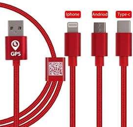 Cable de carga rápida 3 en 1 micro USB