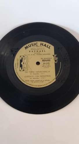 LP 33 RAPHAEL MUSIC HALL Hablemos del amor, Si un amor se va