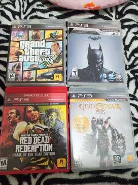Juegos PS3 GtaV vos of war y otros