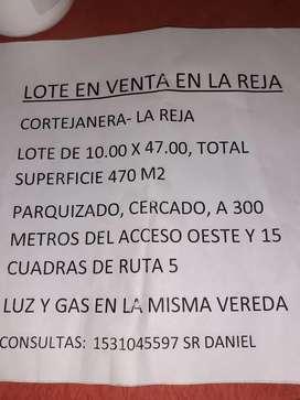 Lote en Venta en la Reja Moreno.