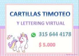 CARTILLAS TIMOTEO Y LETTERING ONLINE